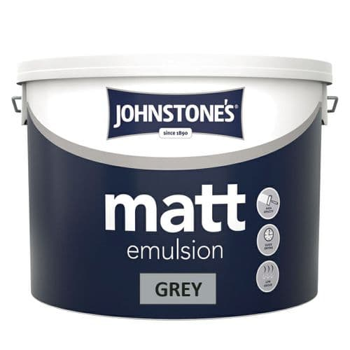 Matt 10 Litres in grey, white  or magnolia