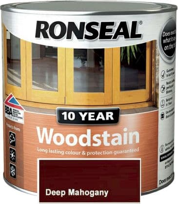 Ronseal 10 Year Woodstain Deep Mahogany 2.5L