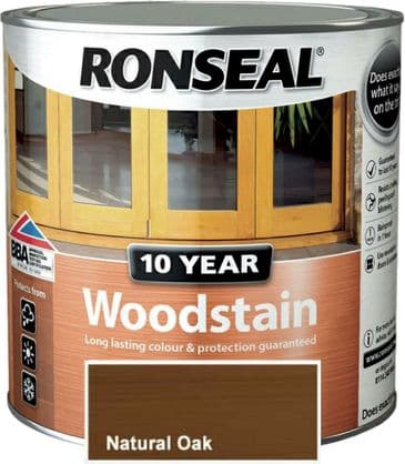 Ronseal 10 Year Woodstain Natural Oak 2.5L