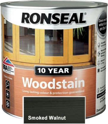 Ronseal 10 Year Woodstain Smoked Walnut 750ml