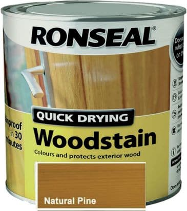 Ronseal QD Woodstain Natural Pine 250ml