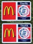 2007-09 FA Community Shield Official Player Issue Size Football Soccer Badge Patch Set