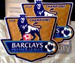 2011-12 Manchester City EPL CHAMPIONS Official Player Issue Size Football Soccer Badge Patch Set