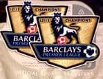 2012-13 Manchester Utd EPL CHAMPIONS Official SportingiD Adult Replica Size Football Badge Patch Set