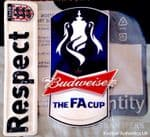 2012-14 Budweiser**FA Cup Final & FA Respect**Official Player Issue Size Football Badge Patch Set
