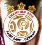 2013 Paris PSG French Ligue 1 Champion OFFICIAL Player Issue Size Soccer Football Badge Patch