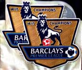 2014-15 Chelsea EPL CHAMPIONS Official Player Issue Size Football Soccer Badge Patch Set