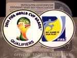 2014 Brazil World Cup Qualifiers & My Game Is Fair Play Official Player Issue Size Badge Patch Set