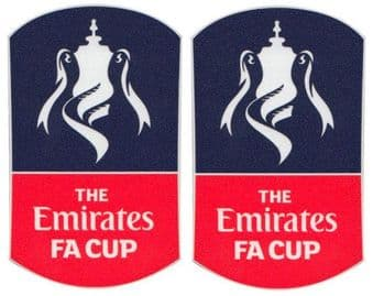 2015-16 Emirates FA CUP Official PS-Pro SportingiD Football Soccer Badge Patch Set