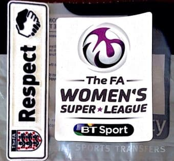 2016 & 2017 English**FA Womens Super League & FA Respect**Official Player Issue Size Badge Patch Set