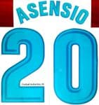 2017-18 Real Madrid ASENSIO#20 La Liga Home Shirt Official Player Issue Size Name Number Set