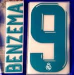 2017-18 Real Madrid BENZEMA#9 Home UCL Shirt OFFICIAL SportingiD Name Number Set