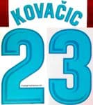 2017-18 Real Madrid KOVACIC#23 La Liga Home Shirt Official Player Issue Size Name Number Set