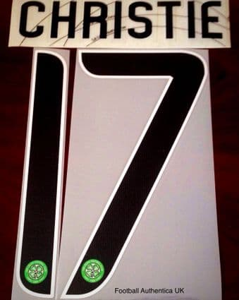 2017-20 Celtic(Glasgow)UCL & EUROPA Home/Away/Third Shirt CHRISTIE#17 Official Name Number Set