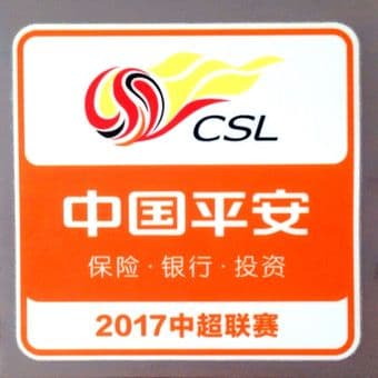 2017 Chinese Super League CSL Official Player Issue Size Football Soccer Badge Patch