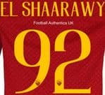 2018-19 AS Roma Home Shirt EL SHAARAWY#92 Official Stilscreen Name Number Set