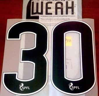 2018-19 Celtic(Glasgow) Home/Away/Third Shirt WEAH#30 PS-Pro SportingiD Name Number Set