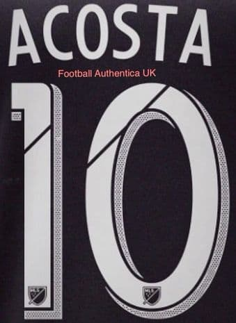 2018/19 D.C. United MLS Home Shirt ACOSTA#10 Official Player Issue Match Name Number Set