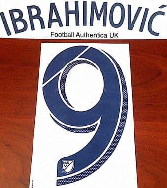 2018/19 LA Galaxy MLS Home Shirt IBRAHIMOVIC#9 Official Player Issue Match Name Number Set