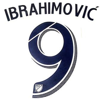 2018/19 LA Galaxy MLS Home Shirt IBRAHIMOVIC#9 Official Replica Stadium Issue Name Number Set