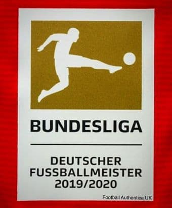 2019-20 Bayern Munich BUNDESLIGA CHAMPIONS Official Player Issue Size Football Soccer Badge Patch