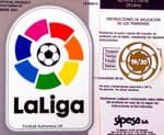 2019-20 Real Madrid LA LIGA CHAMPIONS Official Football Player Issue Size Soccer Badge Patch Set