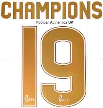 2019 Celtic SPFL CHAMPIONS#19 Home/Away/Third Shirt Official SportingiD Name Number Set