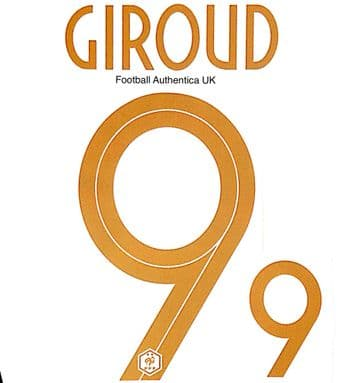 2019 France CENTENARY Home Shirt GIROUD#9 Nike PS-Pro Football Name Number Set