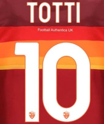 2020-21 AS Roma LEGEND Home/Third Shirt TOTTI#10 Official Stilscreen Name Number Set