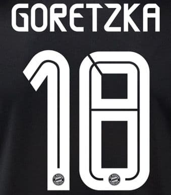2020-21 Bayern Munich UCL Third  Shirt GORETZKA#18 Official Player Issue Size Name Number Set
