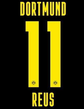 2020-21 Dortmund Away Shirt REUS#11 Official Player Issue Size Name Number Set