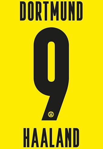 2020-21 Dortmund Home/Third Shirt HAALAND#9 Official Player Issue Size Name Number Set