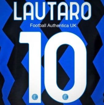 2020-21 Inter Milan LAUTARO#10 Home Shirt Official Player Issue Size Name Number Set