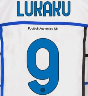 2020-21 Inter Milan LUKAKU#9 Away Shirt Official Player Issue Size Name Number Set