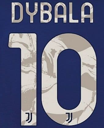 2020-21 Juventus DYBALA#10 Away Shirt Official DekoGraphics Name Number Set