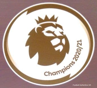 2020-21 Manchester City PREMIER LEAGUE CHAMPIONS Official Player Issue Size Football Badge Patch