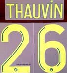 2020-21 Olympique Marseille THAUVIN#26 Third Shirt Official Player Issue Size Name Number Set
