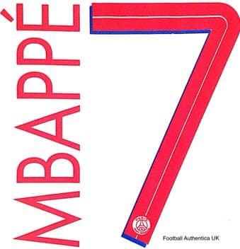 2020-21 PSG Paris UCL Away Shirt MBAPPE#7 Official Player Issue Size Name Number Set