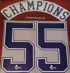 2020-21 Rangers(Glasgow) Away Shirt CHAMPIONS#55 Official Player Issue Size Name Number Set
