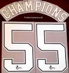 2020-21 Rangers(Glasgow) Home Shirt CHAMPIONS#55 Official Player Issue Size Name Number Set