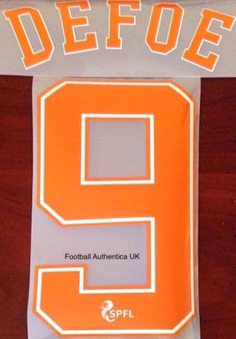 2020-21 Rangers(Glasgow) Third Shirt DEFOE#9 Official Player Issue Size Name Number Set