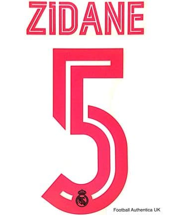2020-21 Real Madrid UCL Third Shirt ZIDANE#5 Official Player Issue Size Name Number Set