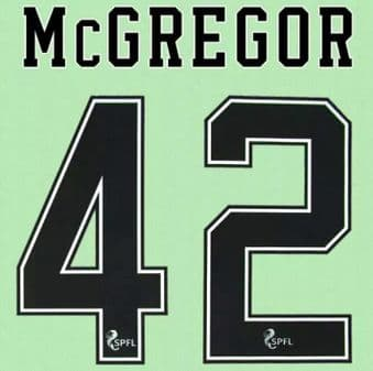 2020-22 Celtic(Glasgow) Home/Away/Third Shirt McGREGOR#42 Official Player Issue Size Name Number Set
