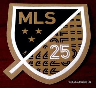 2020 LAFC(Los Angeles) MLS Home Shirt**25th Anniversary**Official Player Issue Football Badge Patch