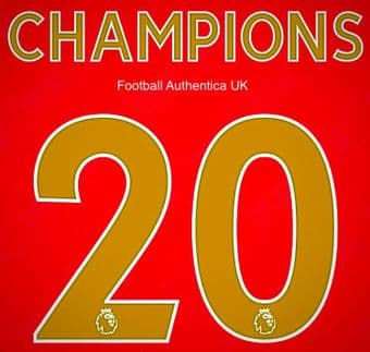 2020 Liverpool FA PREMIER LEAGUE CHAMPIONS#20 Home Shirt Official Avery Dennison Name Number Set