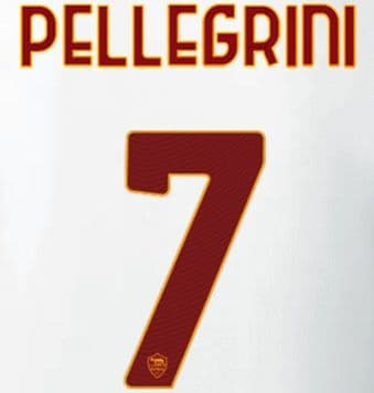 2021-22 AS Roma PELLEGRINI#7 Away/Third Shirt Official Player Issue Size Name Number Set