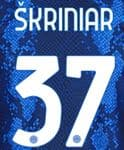 2021-22 Inter Milan SKRINIAR#37 Home Shirt Official Player Issue Size Name Number Set