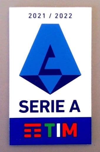 2021-22 Italian Serie A TIM Lega Calcio Official Player Issue Size Football Soccer Badge Patch