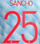 2021-22 Manchester United UCL & FA CUP Away Shirt SANCHO#25 Official Player Issue Name Number Set