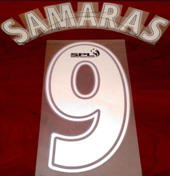 2007-08 Celtic(Glasgow) SPECIAL ANNIVERSARY EDITION Away Shirt SAMARAS#9 Official Name Number Set